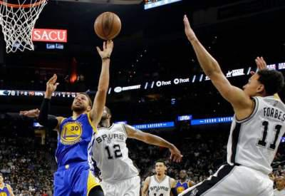 Warriors sweep Spurs to third straight NBA Finals