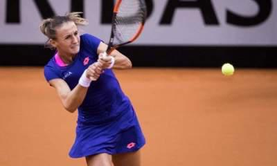 Maria Sharapova through face critic Eugenie Bouchard in Madrid