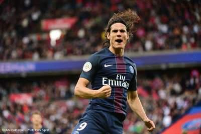 PSG forward Edinson Cavani voted best player of Ligue 1 in the season 2016-2017