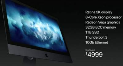Apple updated iMac and MacBook series with latest platforms; introduces iMac Pro