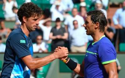 Nadal nearly ideal but Djokovic struggles