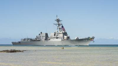 US Navy Commissions New Arleigh Burke-Class Destroyer at Pearl Harbor Base