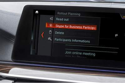 BMW vehicles to include Skype for Business