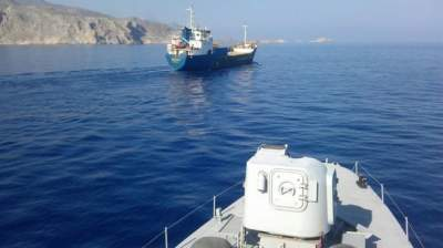 Greek coast guards fire at Turkish cargo ship in Aegean