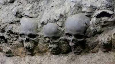 In Mexico found a dark pyramid of human skulls