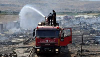 Fire kills 3 at Syrian refugee camp in Lebanon