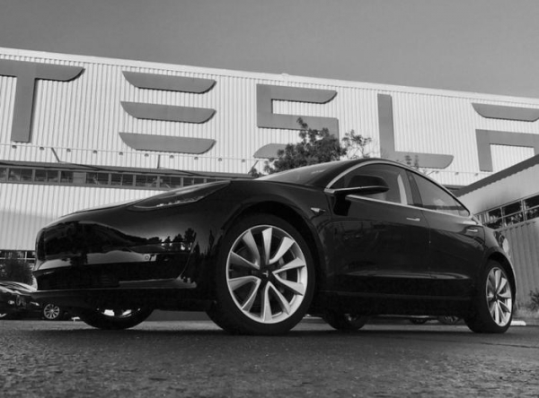 First Production Model 3 Rolls Off Assembly Line