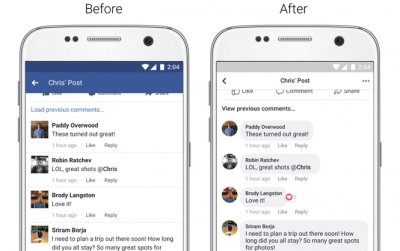 Facebook Redesigns App Interface For Better Readability, Adds Features To Camera