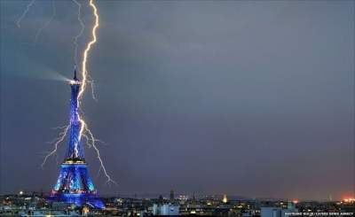 Lightning strike injures 15 people - including two seriously - at French music festival