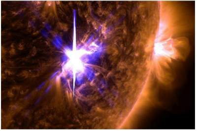 Enormous sunspots and huge solar flares indicate unexpected space weather for Earth