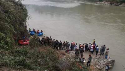 Indian among 31 killed as bus plunges into river in Nepal
