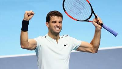 Dimitrov beats Goffin to win ATP Finals
