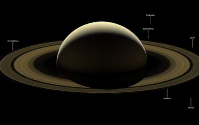 NASA Unveils Farewell Images of Saturn, Its Rings And Moos