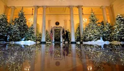 Critics Bash First Lady Melania Trumpâ??s White House Christmas Decorations
