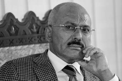 Yemeni women protest for body of slain leader Saleh