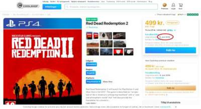 Danish webshop lists supposed Red Dead Redemption 2 release date