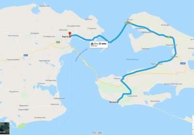 Google Map Of Asia.In Google Maps A Crimean Bridge Micetimes Asia