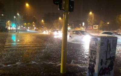 Rome suffers freak hailstorm and flooding