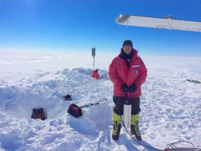Antarctic ice shelf 'sings' as winds whip across its surface