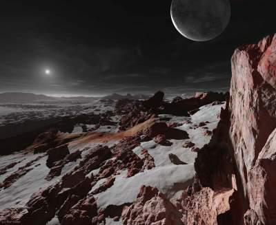 What dawn looks on different planets. Photo
