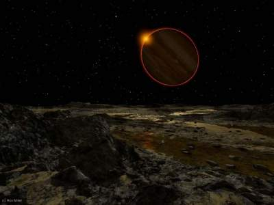 What does the dawn look like on different planets. Photo