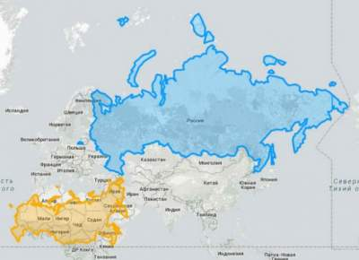 The real size of the countries on the maps in an unusual ...