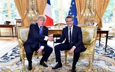 Трамп встретился с Макроном в Париже