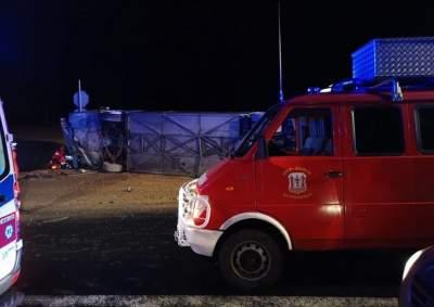 Смертельное ДТП в Польше: автобус упал в кювет