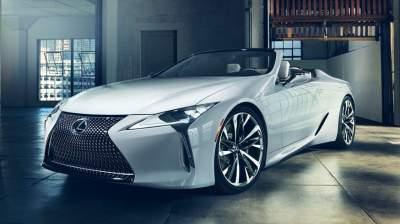 Lexus LC convertible concept debuts at Detroit auto show