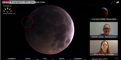Bright flash shows object slamming into moon during lunar eclipse