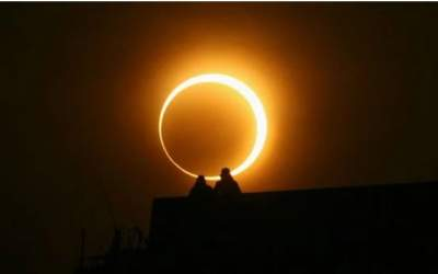 First partial solar eclipse of the year today