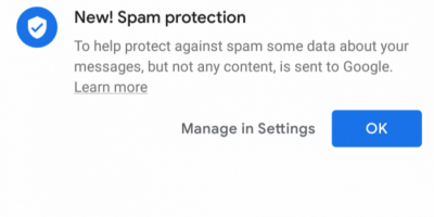 Automatic Spam Protection Feature Rolls Out For Android Messages