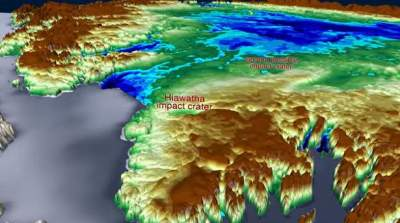 NASA discover HUGE meteorite impact crater beneath the ice sheets of Greenland