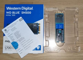 Western Digital Blue SN500 and hard drive no longer needed